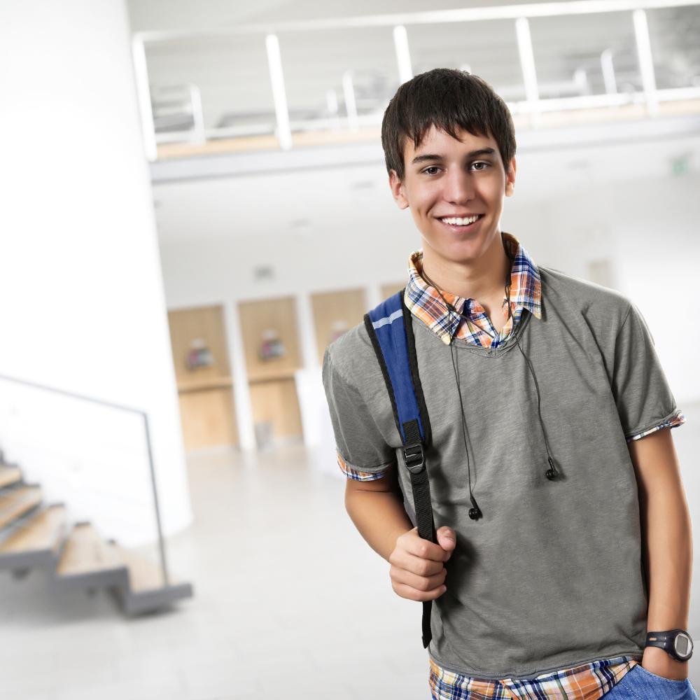 Portrait of a high-school student