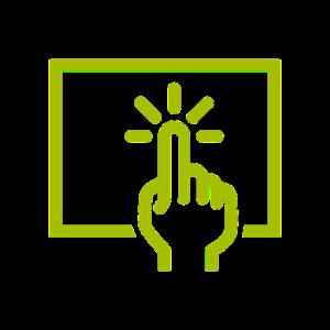 A graphic repreenting interactivity via a computer