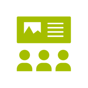 a graphic representing a presentation