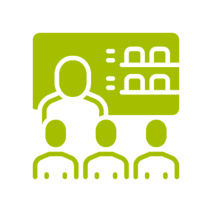 a graphic representing a small group presentation